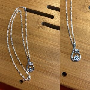 Jewelry - GENUINE DIAMOND AND STERLING SILVER NECKLACE